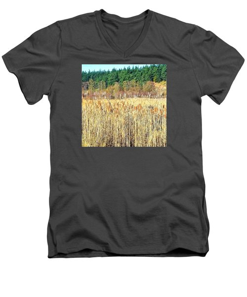 Bullrushes In Late November Men's V-Neck T-Shirt