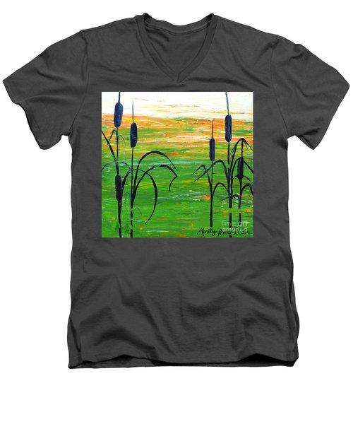 Bullrushes Men's V-Neck T-Shirt