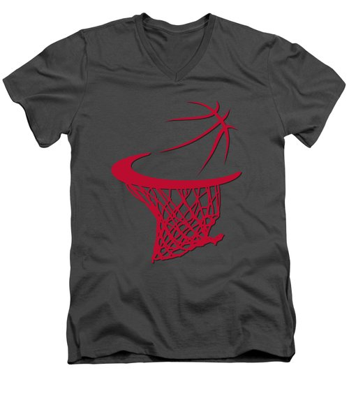 Bulls Basketball Hoop Men's V-Neck T-Shirt by Joe Hamilton