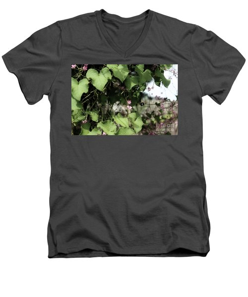 Men's V-Neck T-Shirt featuring the photograph Bumble Bum by Megan Dirsa-DuBois