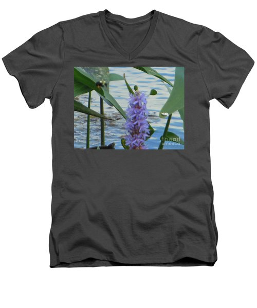 Bumblebee Pickerelweed Moth Men's V-Neck T-Shirt