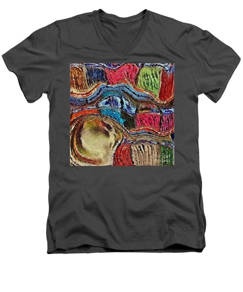 Men's V-Neck T-Shirt featuring the photograph Bumps In The Road by Kathie Chicoine