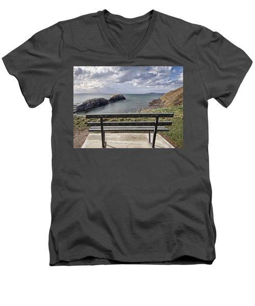 Bundoran - View Over The Diving Platform At Rougey Rocks Men's V-Neck T-Shirt