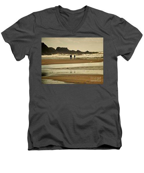 Bunmahon Beach 2  Coppercoast  Men's V-Neck T-Shirt