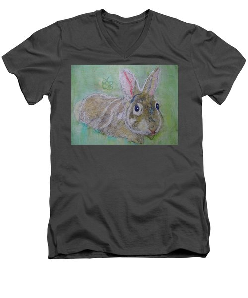 bunny named Rocket Men's V-Neck T-Shirt