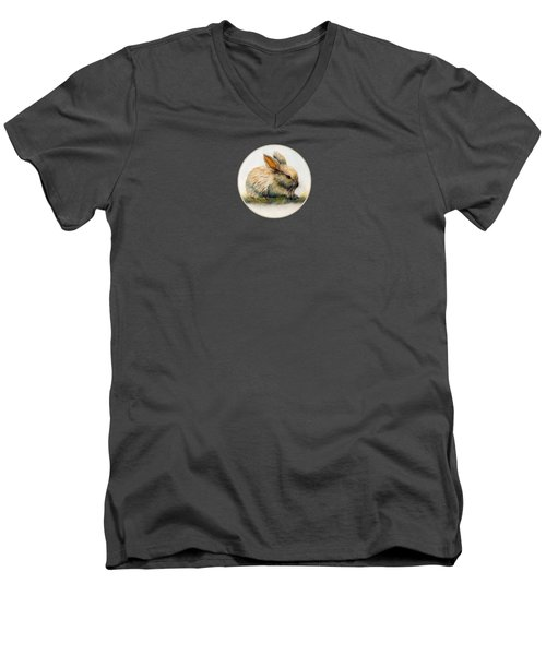 Bunny T-shirts And Accessories Men's V-Neck T-Shirt by Loretta Luglio