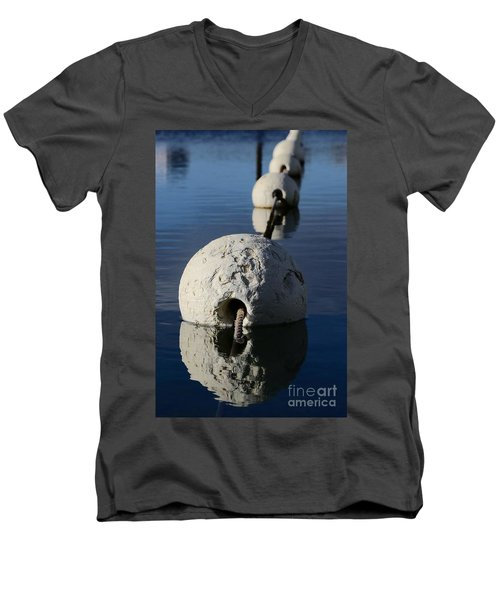 Men's V-Neck T-Shirt featuring the photograph Buoy In Detail by Stephen Mitchell