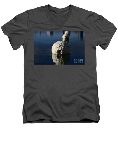 Men's V-Neck T-Shirt featuring the photograph Buoy Upfront by Stephen Mitchell