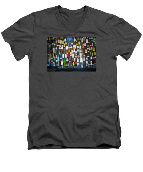 Buoys, Martha's Vineyard Men's V-Neck T-Shirt
