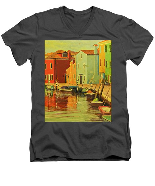 Burano, Italy - Study Men's V-Neck T-Shirt