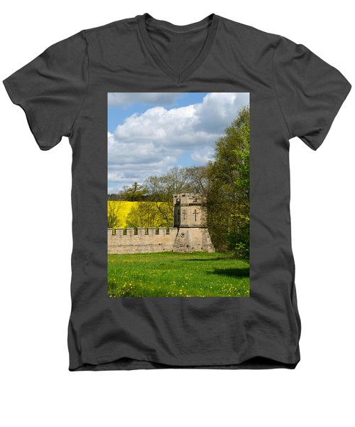 Burghley House Fortifications Men's V-Neck T-Shirt