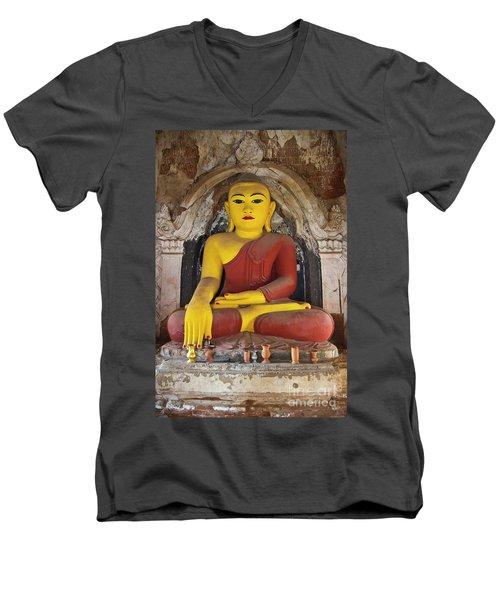 Burma_d1150 Men's V-Neck T-Shirt by Craig Lovell