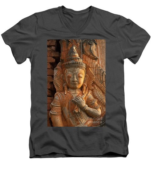 Men's V-Neck T-Shirt featuring the photograph Burma_d187 by Craig Lovell