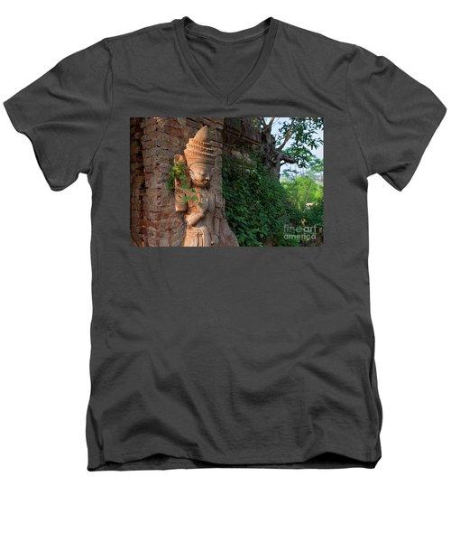Burma_d195 Men's V-Neck T-Shirt