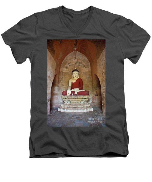 Men's V-Neck T-Shirt featuring the photograph Burma_d2078 by Craig Lovell