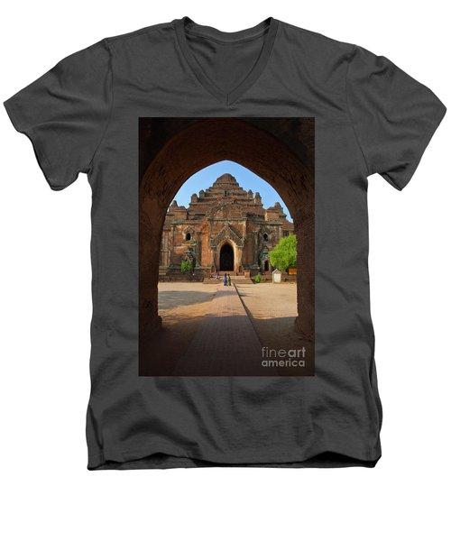 Men's V-Neck T-Shirt featuring the photograph Burma_d2095 by Craig Lovell