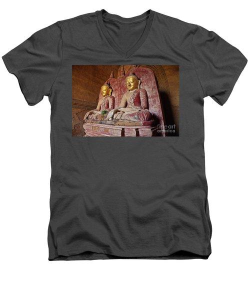 Men's V-Neck T-Shirt featuring the photograph Burma_d2104 by Craig Lovell