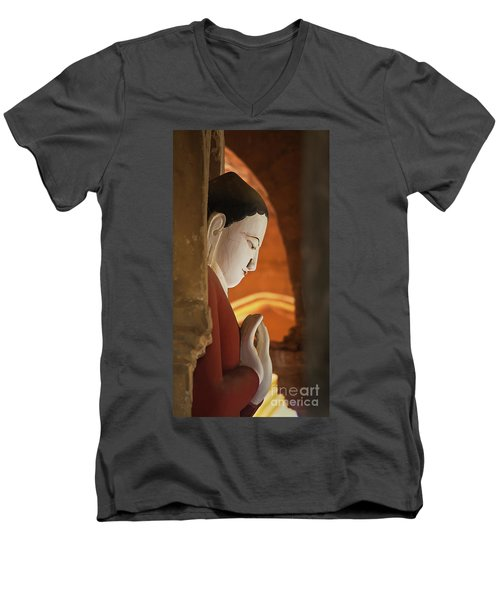 Men's V-Neck T-Shirt featuring the photograph Burma_d2287 by Craig Lovell