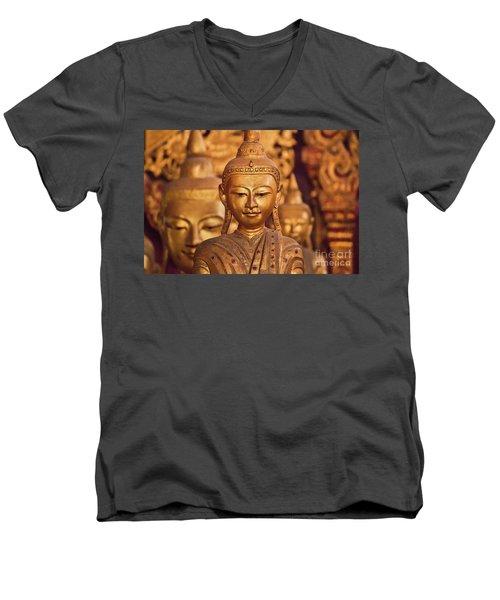 Men's V-Neck T-Shirt featuring the photograph Burma_d579 by Craig Lovell