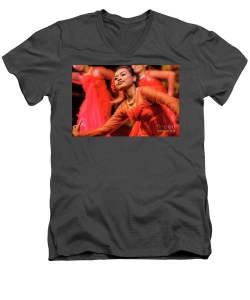 Burmese Dance 1 Men's V-Neck T-Shirt by Werner Padarin