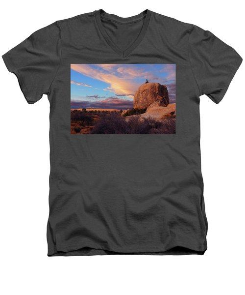 Burning Daylight Men's V-Neck T-Shirt