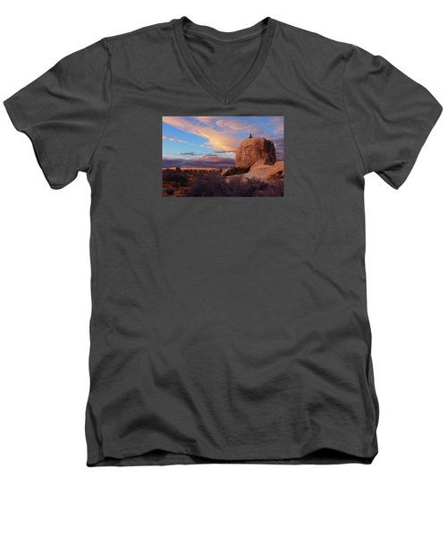 Burning Daylight Men's V-Neck T-Shirt