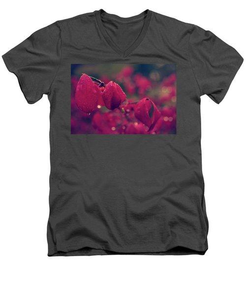 Burning Red Men's V-Neck T-Shirt