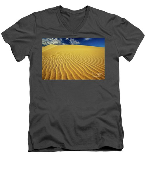 Burning Up At The White Sand Dunes - Mui Ne, Vietnam, Southeast Asia Men's V-Neck T-Shirt by Sam Antonio Photography