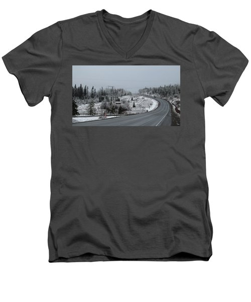 Burns Lake Bc Men's V-Neck T-Shirt
