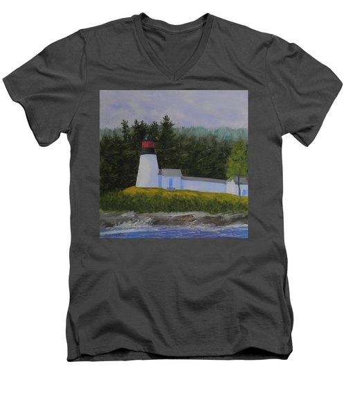 Burnt Island Light Men's V-Neck T-Shirt