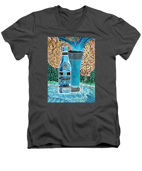 Burr Hyfe Gone Real Cold Men's V-Neck T-Shirt by Connie Valasco