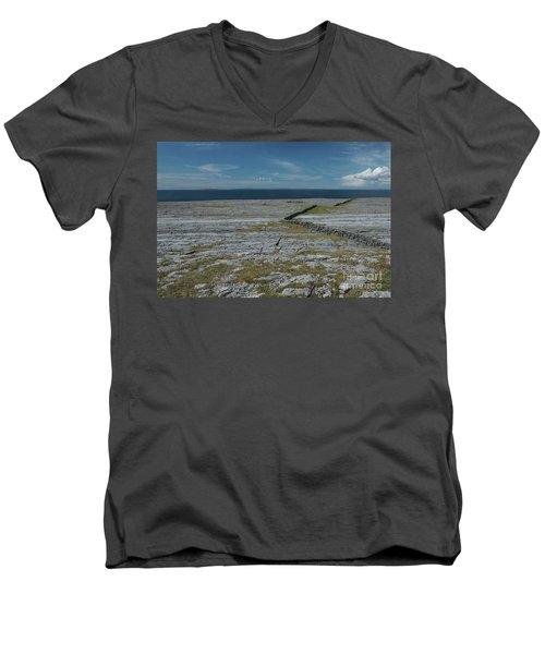 Burren Collection Men's V-Neck T-Shirt