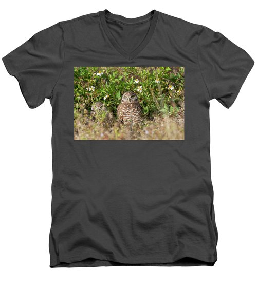 Burrowing Owls Outside Their Den Men's V-Neck T-Shirt