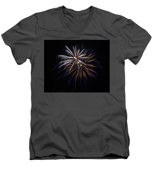 Men's V-Neck T-Shirt featuring the photograph Burst Of Elegance by Bill Pevlor