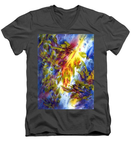 Burst Of Fall Men's V-Neck T-Shirt