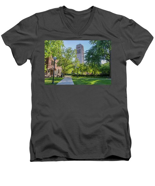 Burton Memorial Tower 1 University Of Michigan  Men's V-Neck T-Shirt