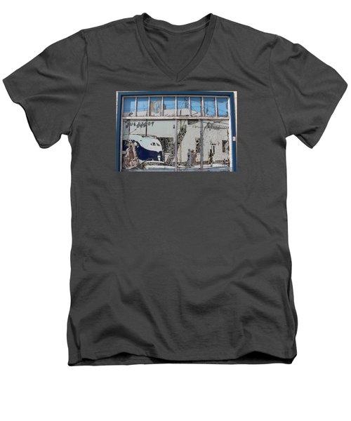 Vintage Bus Depot Sign Men's V-Neck T-Shirt