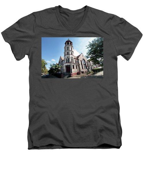 Bushwick Avenue Central Methodist Episcopal Church Men's V-Neck T-Shirt