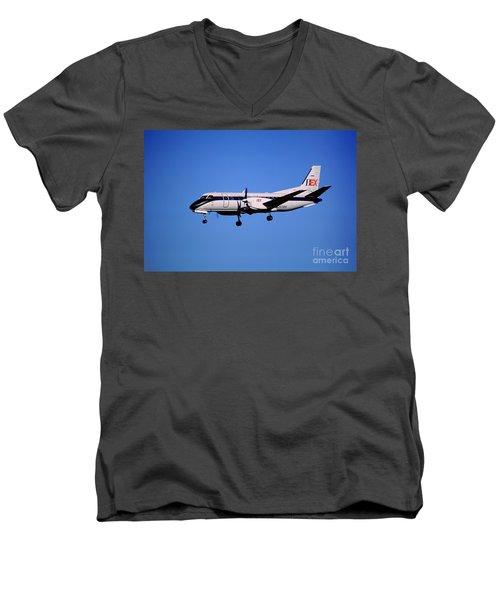 Business Express, Delta Connection, N353be, Bex Saab 340b Men's V-Neck T-Shirt