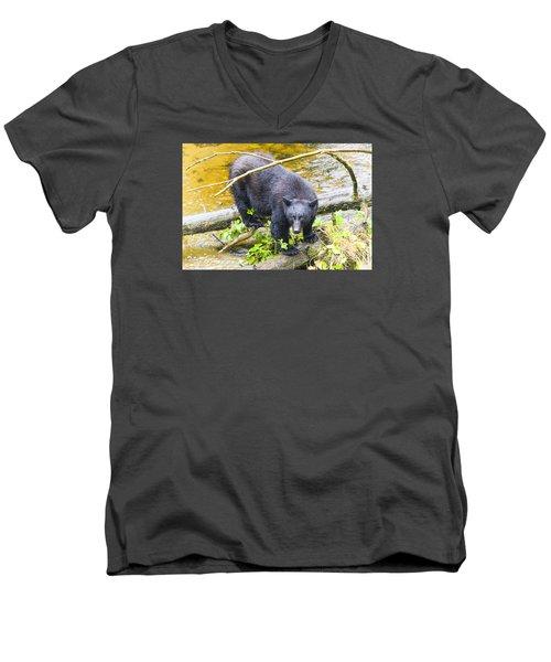 Busted Men's V-Neck T-Shirt by Harold Piskiel