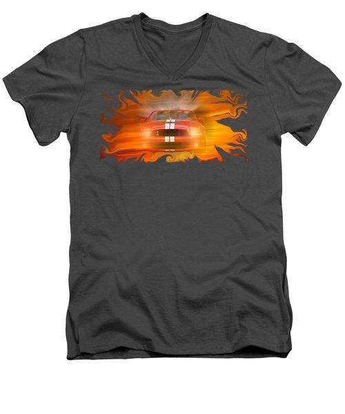 Bustin Thru Men's V-Neck T-Shirt by David and Lynn Keller