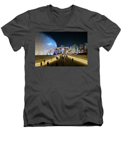 Busy Night Men's V-Neck T-Shirt