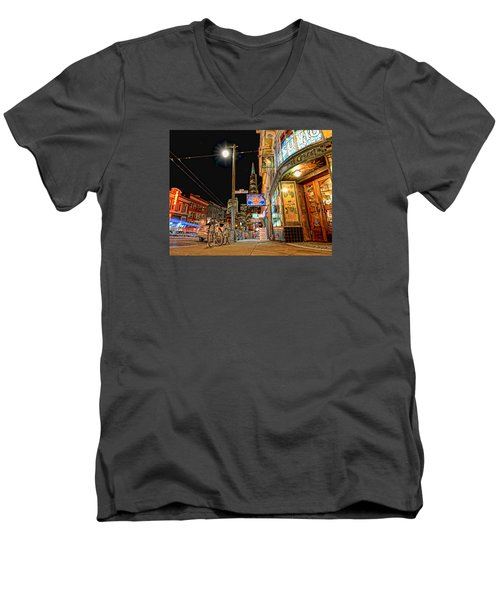 Busy View Northbeach San Francisco Men's V-Neck T-Shirt