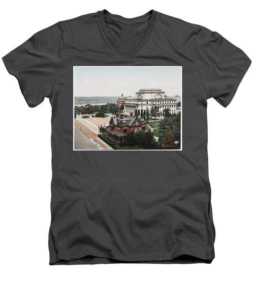Butler Library At Columbia University Men's V-Neck T-Shirt