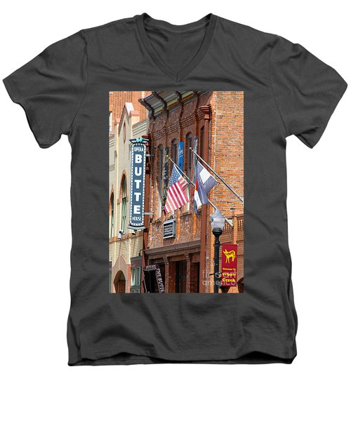 Butte Opera House In Colorado Men's V-Neck T-Shirt by Catherine Sherman