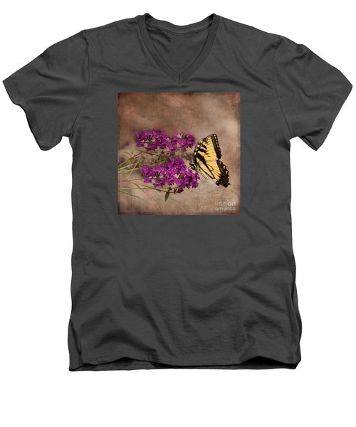Butterfly , Eastern Tiger Swallowtail Men's V-Neck T-Shirt