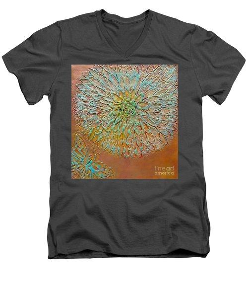 Butterfly Flower Men's V-Neck T-Shirt