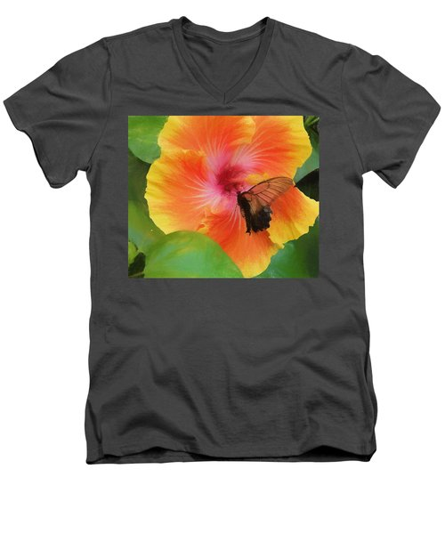 Butterfly Botanical Men's V-Neck T-Shirt
