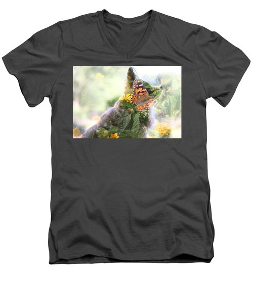 Butterfly Dog Men's V-Neck T-Shirt
