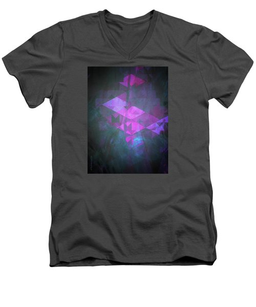 Men's V-Neck T-Shirt featuring the digital art Butterfly Dreams by Mimulux patricia no No
